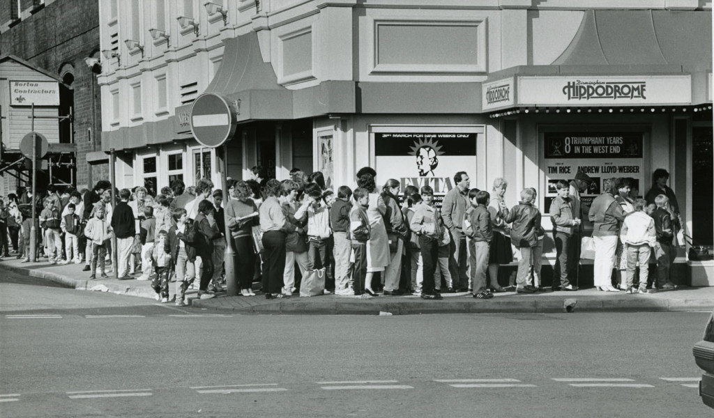 Queuing for Evita tickets in 1987
