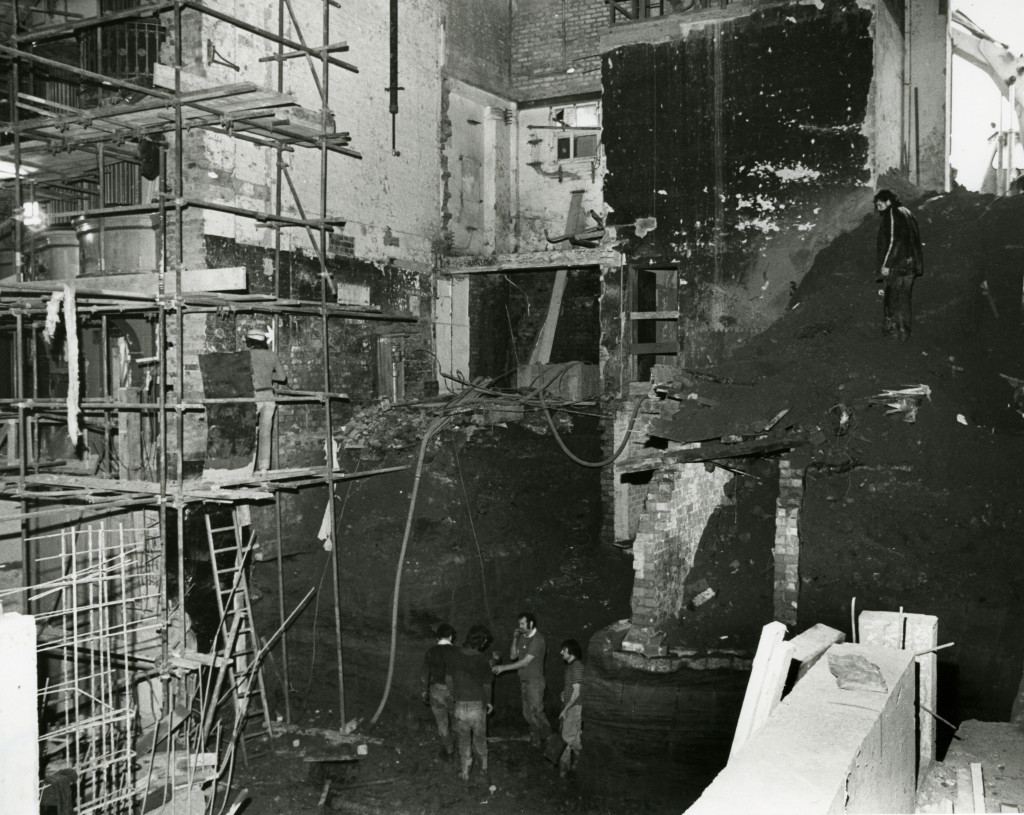 Demolition inside the auditorium 1981