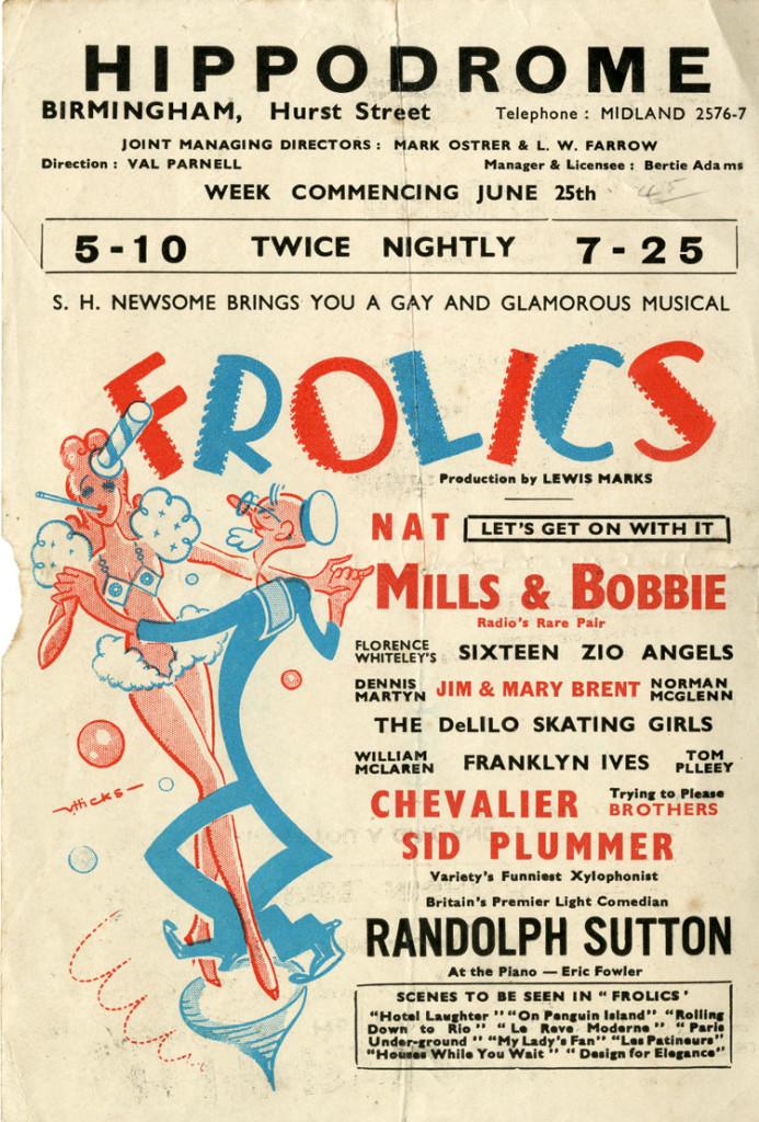 Flyer for ?Frolics? June 1945
