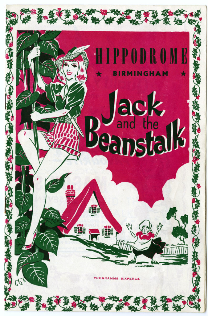 Programme for ?Jack in the Beanstalk? December 1957