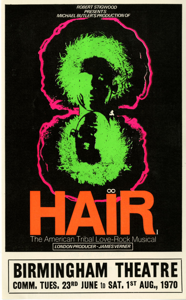 Flyer for 'Hair' June 1970