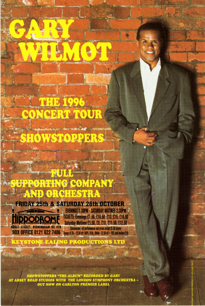 Poster for Gary Wilmots Showstoppers tour 1996