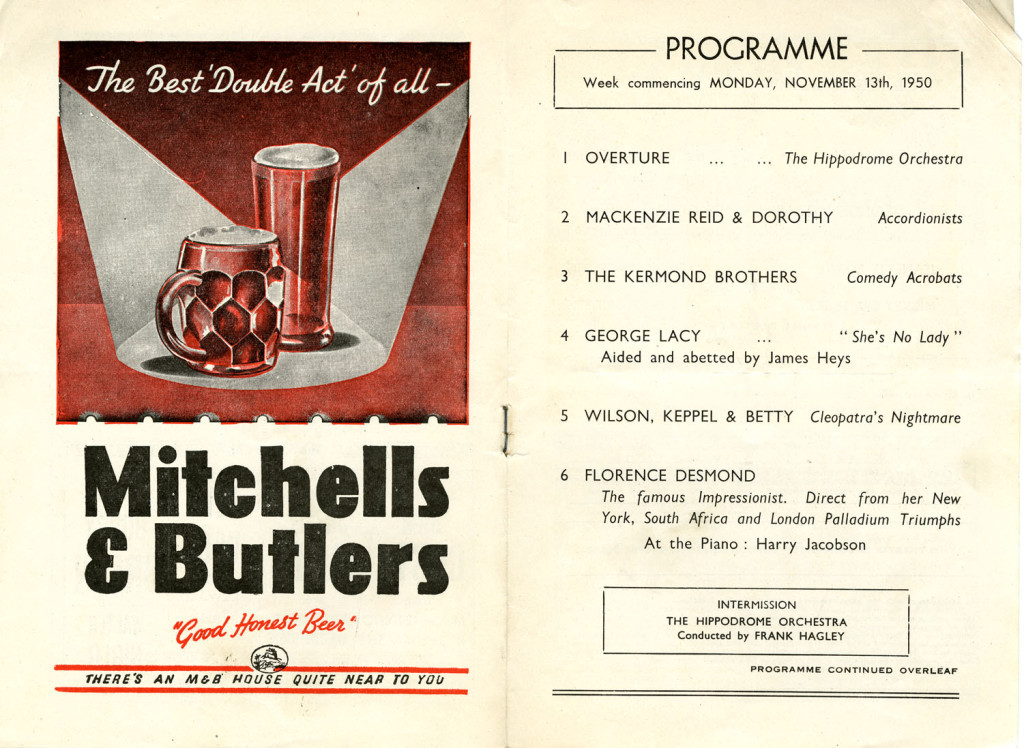 Programme for the week of Monday 13 November 1950