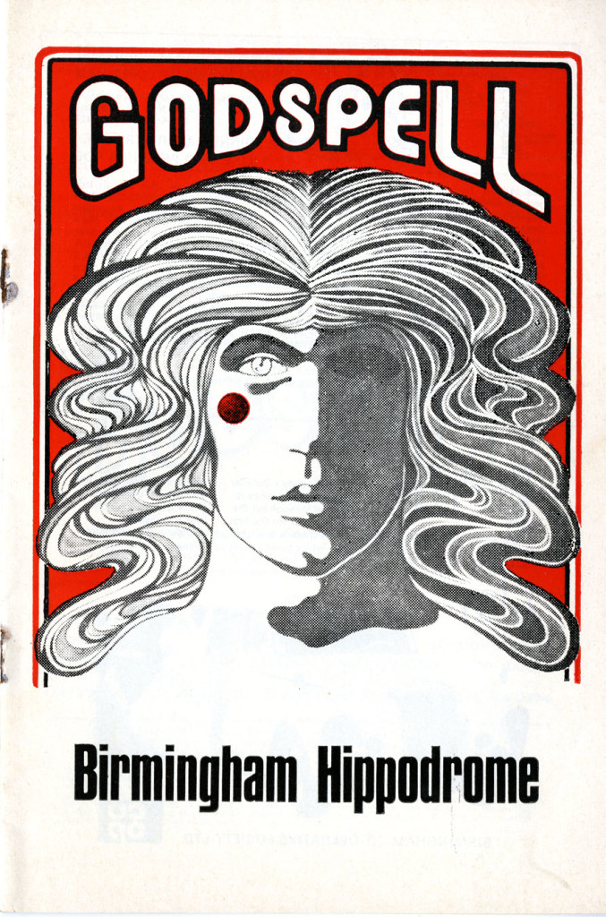 Programme for Godspell, March 1973