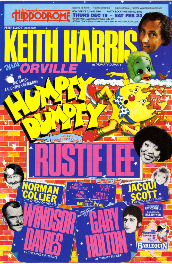 Poster for ?Humpty Dumpty? December 1985