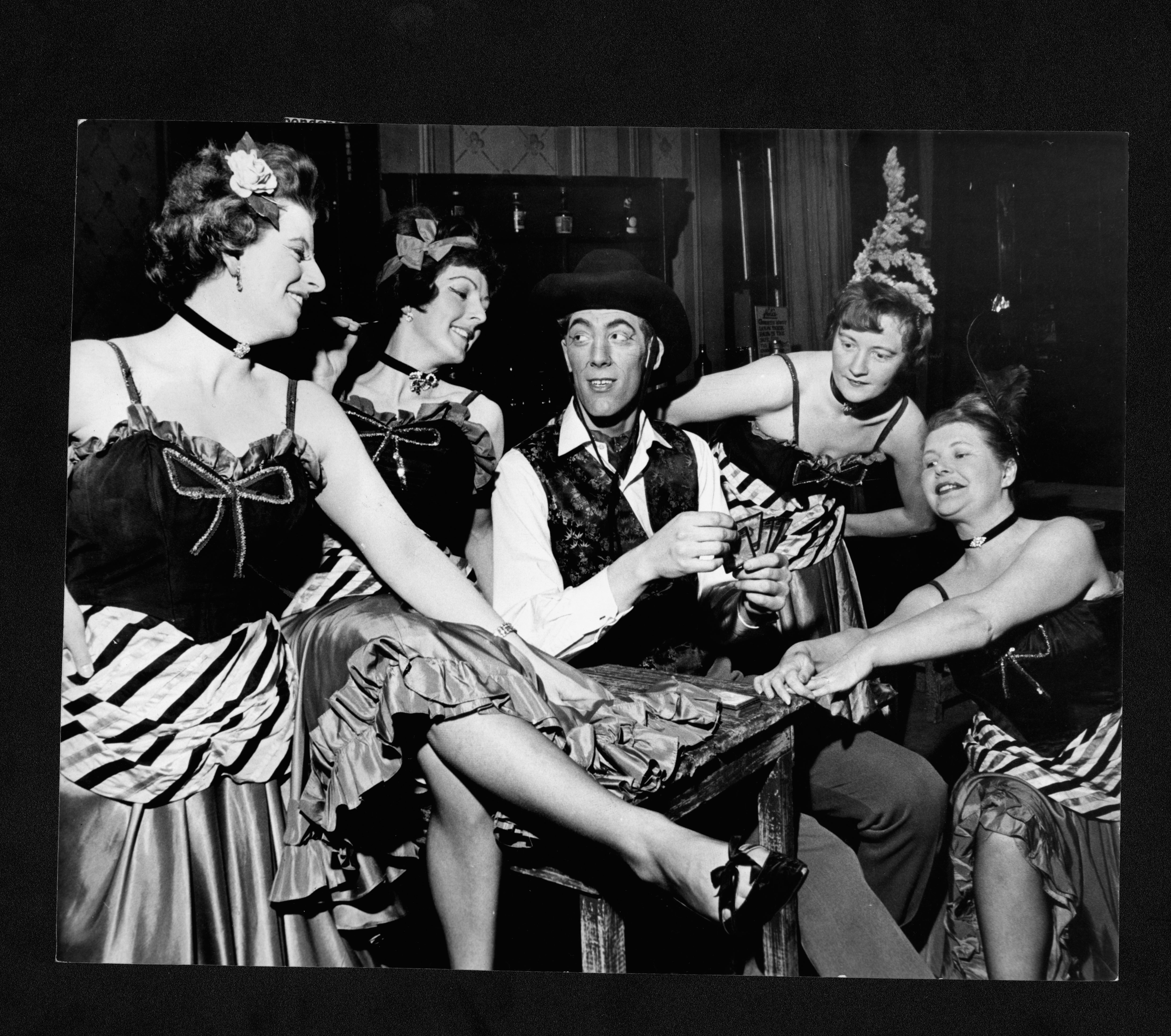 The cast of Calamity Jane, May 1964