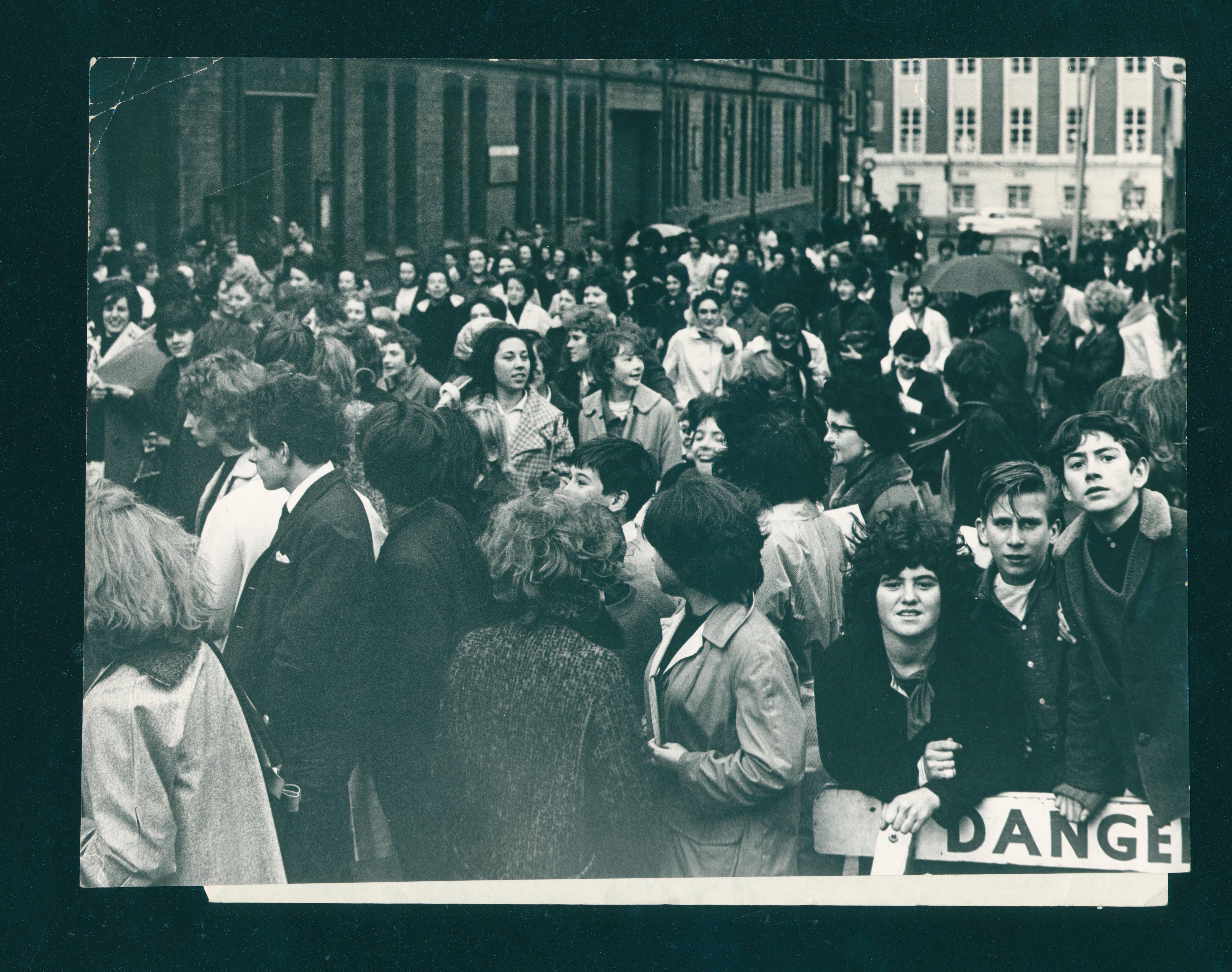 Waiting to see The Beatles, November 1963