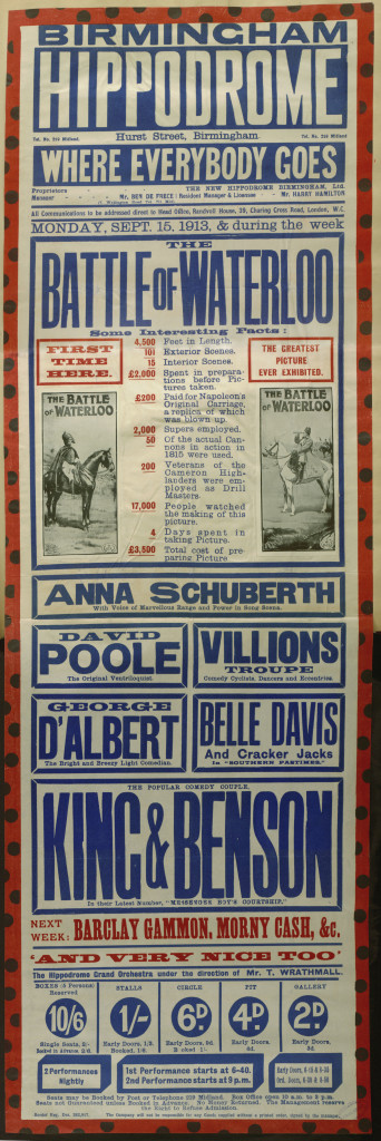 Bill poster for the week of Monday 16 September 1913