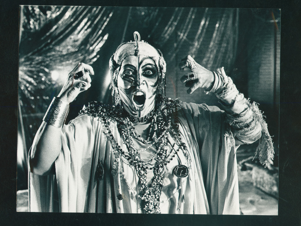 Opera singer Debria Brown performing in the Welsh National Opera's production of Elektra, April 1978