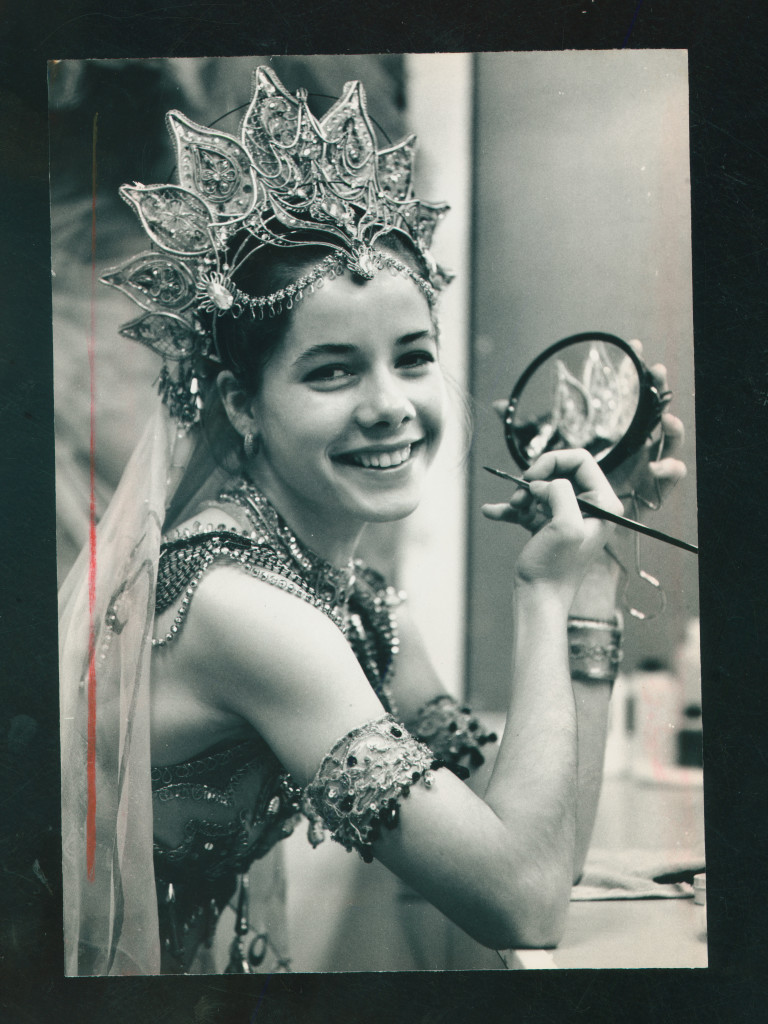 Darcey Bussell getting ready to perform, 1990