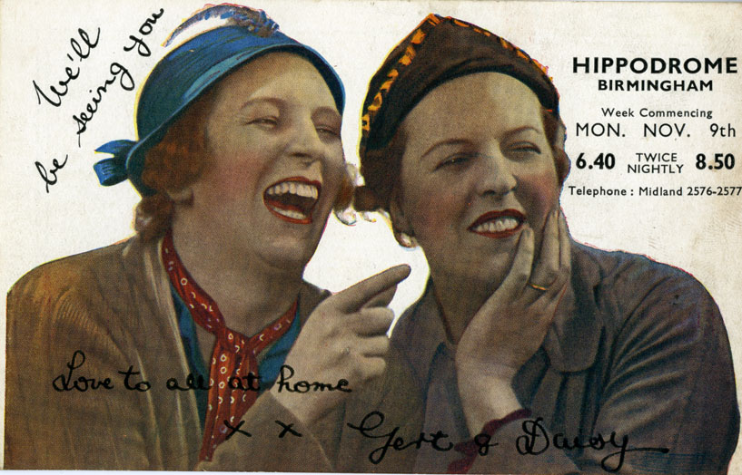 Postcard for the week of Monday 09 November 1936