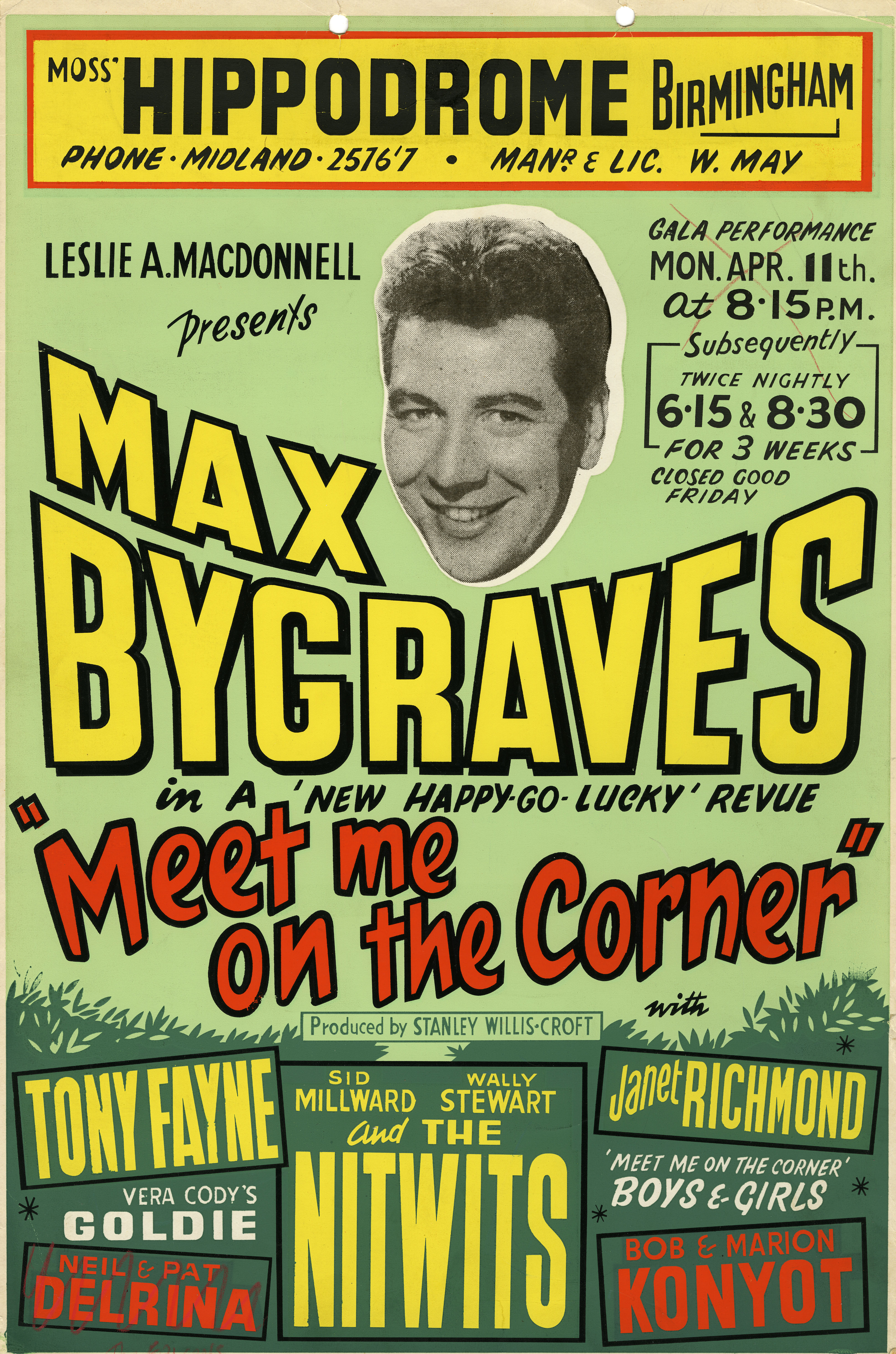 Poster for Meet me on the Corner, April 1960