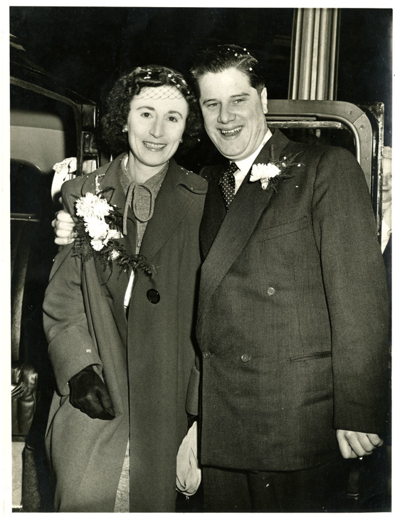 Wedding photograph of Bob and Connie Broughton 1952