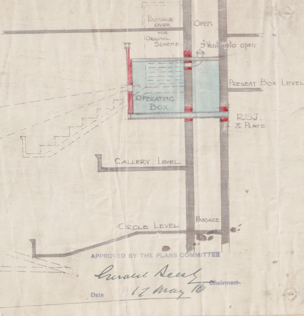Theatre building plan 17 May 1916